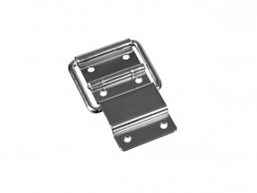 Lid hinge with stopper chrome plated