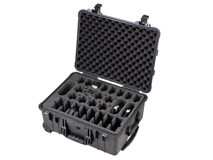 Funkgerätekoffer für 8 Funkgeräte - transportabel im Peli Case 1560
