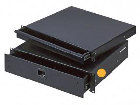 """Rack-Schublade 19"""" 2HE Stahl/2mm nicht abschließbar"""