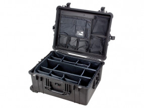 Peli Case 1610 with divider set and photo lid-organizer