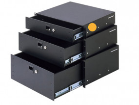 "Rack drawer 19"" 2U aluminium"