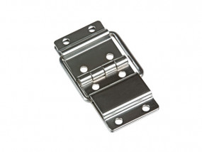 Lid hinge with stopper large chrome plated