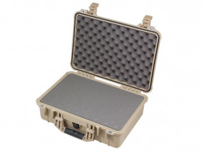 Peli Case 1500 with foam desert tan