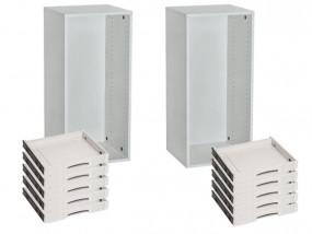 Paquete 2 x SYS-AZ gabinete, 10 x bandejas deslizantes SYS