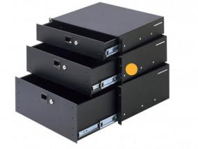 """Rack-Schublade 19"""" 3HE Aluminium abschließbar"""