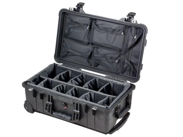 Peli Case 1510+kit séparateurs+couvercle aménagé pour mat. photo