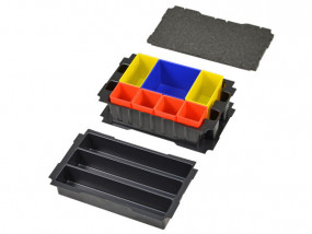 Boxes-insert set for Mini-Systainer T-Loc III 3 compartments