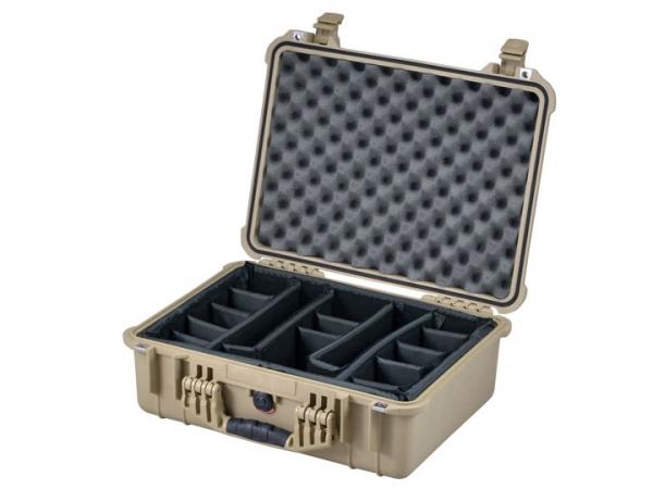 Peli Case 1520 sable avec kit séparateurs