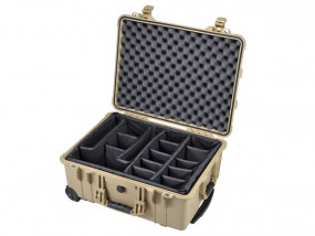 Peli Case 1560 with divider set desert tan