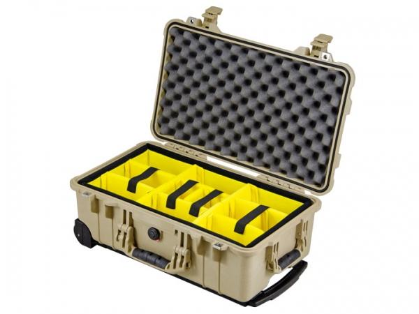 Peli Case 1510 avec kit séparateurs sable