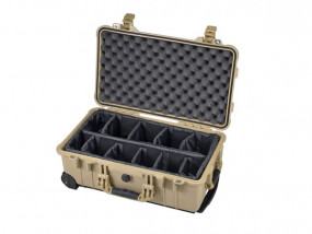 Peli Case 1510 with divider set desert tan