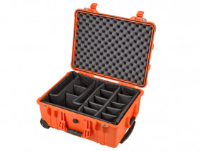 Peli Case 1560 mit Trennwand-Set orange