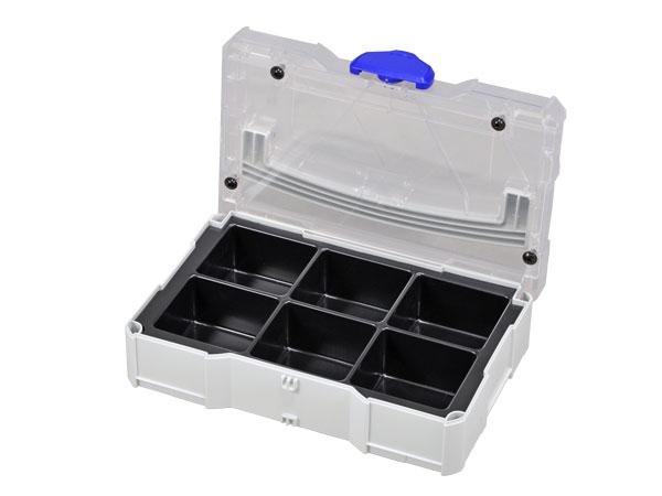 Mini-Systainer (kleiner) passt in Systainer T-Loc (Standardgröße) mit entsprechender Höhe