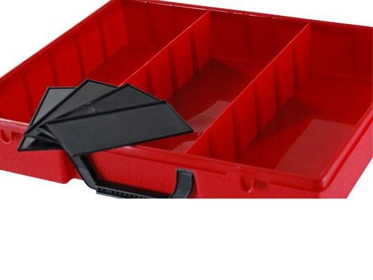 4er-Set Trennstege für Sortimentsbox rot