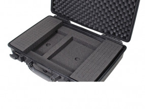 Laptop-insert with universal cubed foam for Peli 1490