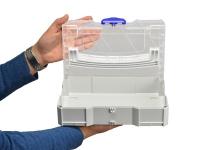 Mini-Systainer T-Loc I mit transparentem Deckel lichtgrau