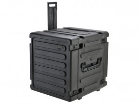 "SKB Roto Shockmount Rack 19"" 12U 20"" deep with Trolley"