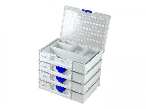 4 x Systainer3 Organizer M89 mit 6 Einsatz-Boxen
