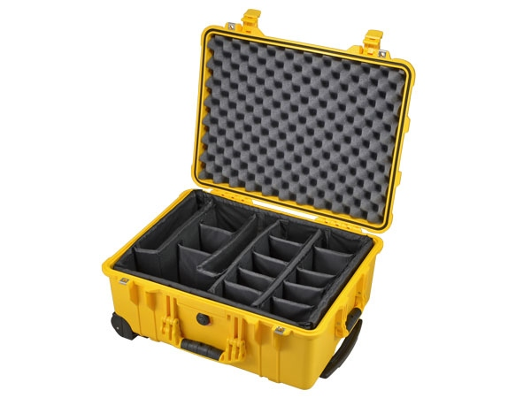 Peli Case 1560 with divider set yellow