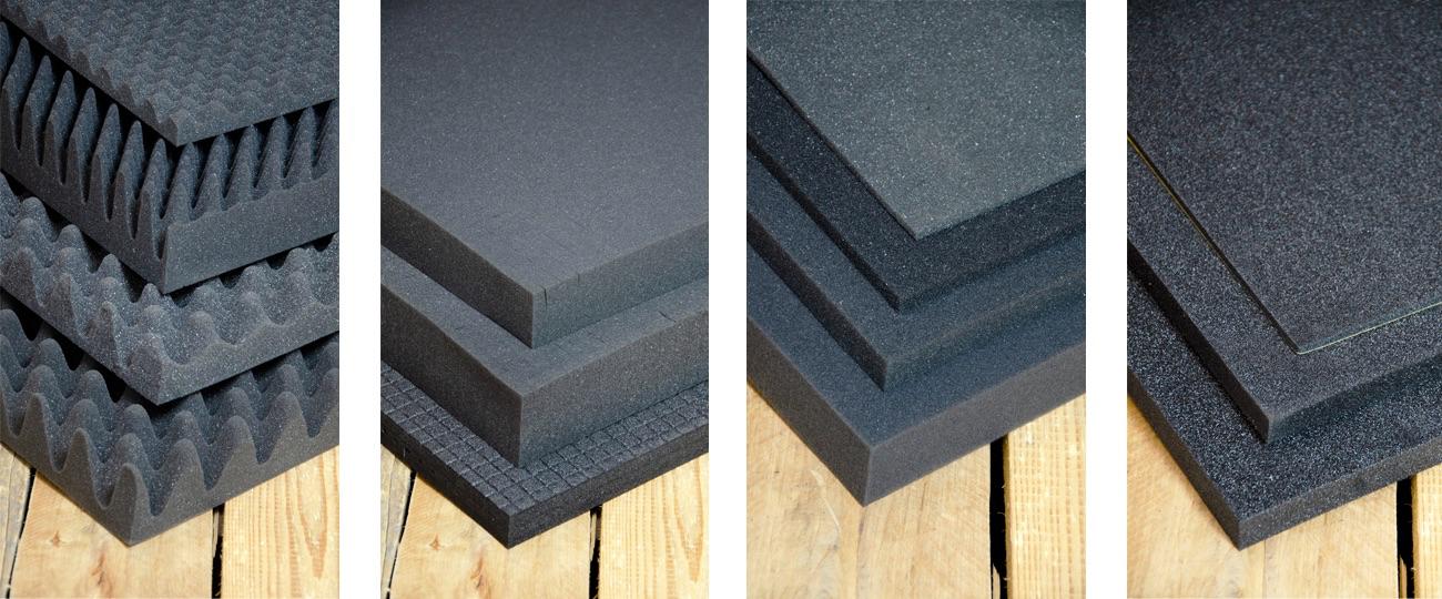 Cubed foam, dimple foam, bottom cushion, lid cushion