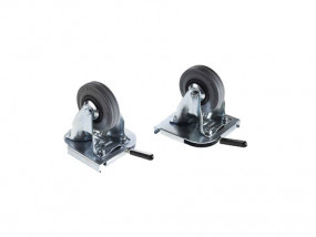 Clip-on swivel castors for aluminum box