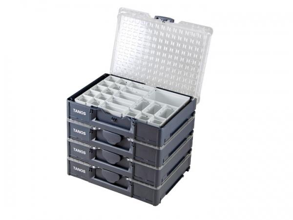 4 x Systainer3 Organizer M89 mit 22 Einsatz-Boxen