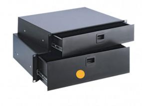 """Rack-Schublade 19"""" 3HE Stahl/1.2mm abschließbar"""