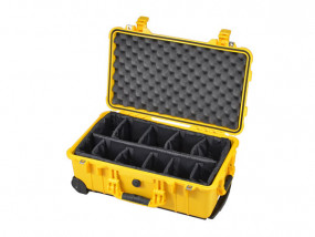 Peli Case 1510 with divider set yellow