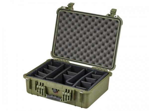 Peli Case 1520 con juego de separadores oliva
