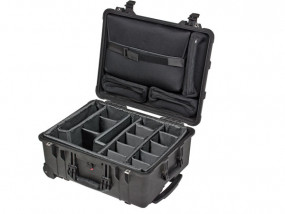 Peli Case 1560 SC with divider set and laptop sleeve
