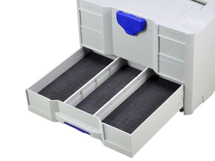 Würfelpolster hart für Schubladen-Systainer T-Loc