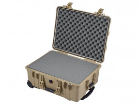 Peli Case 1560 with foam desert tan