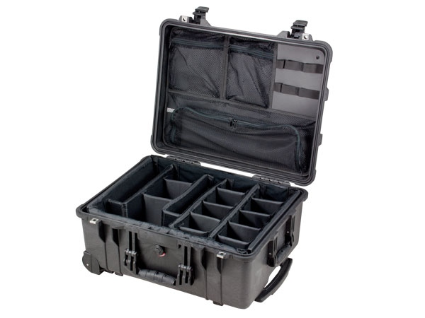 Peli Case 1560+kit séparateurs+couvercle aménagé pour mat. photo