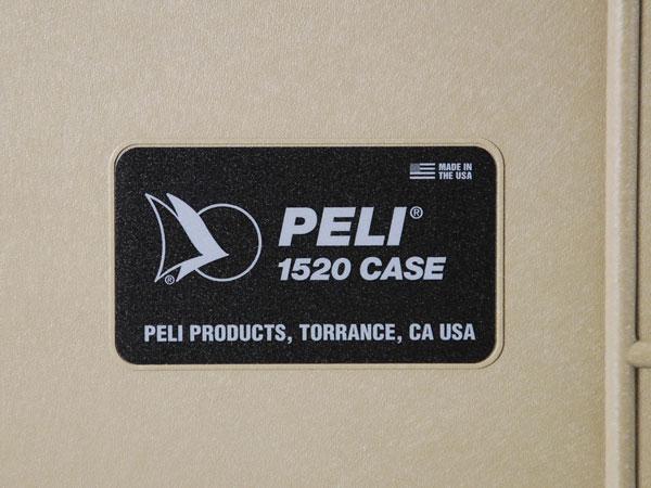 Peli Case 1520 mit Schaumstoff Sand