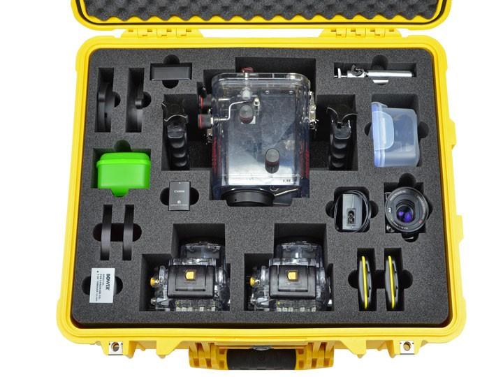 Schaumstoffeinlage für Peli Case 1510 gelb - Unterwasserkamera-Equipment