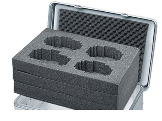 Cubed foam set for Zarges Mobile Box K424 XC 195 l