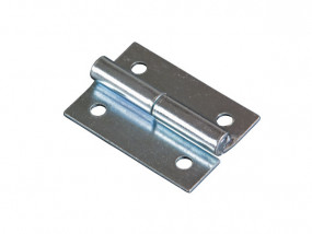 Removable hinge with right-sided stud zinc plated
