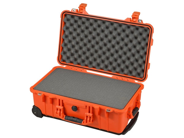 Peli Case 1510 mit Schaumstoff orange