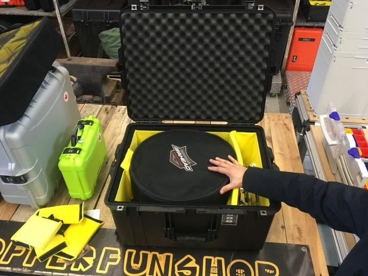 Musiker sucht Flug-Transportbox für wertvolle Drum - Peli Air Case 1637 Trennwand-Set