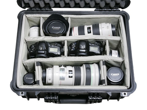 Peli Case 1550 with divider set black
