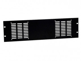 "Rack-panel 19"" 3U punched for 2 fans"