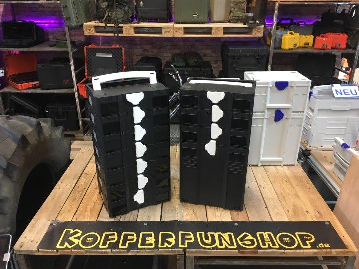 Konfigurierbare Systainer T-Loc in Schwarz-Weiß